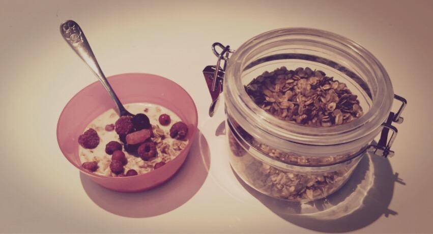 Desayuno dulce y crujiente